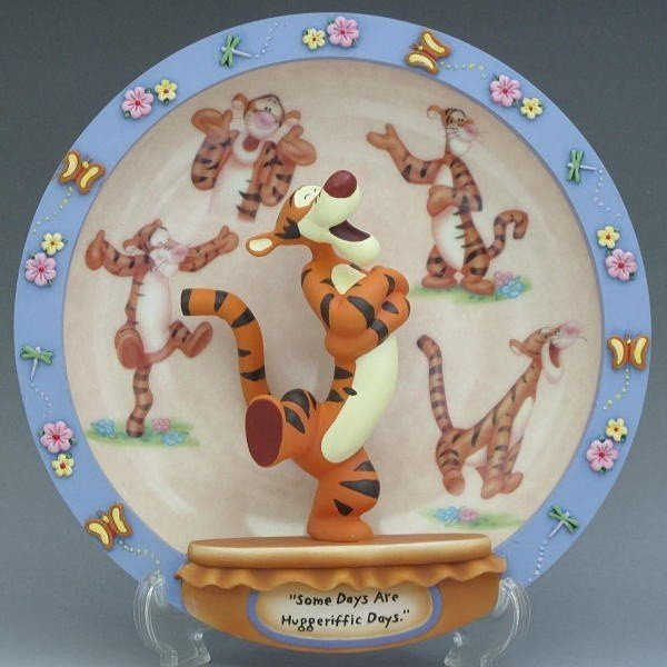 ディズニー ティガー フィギュアプレート Bradford Exchange社 2001年 個別番号入り