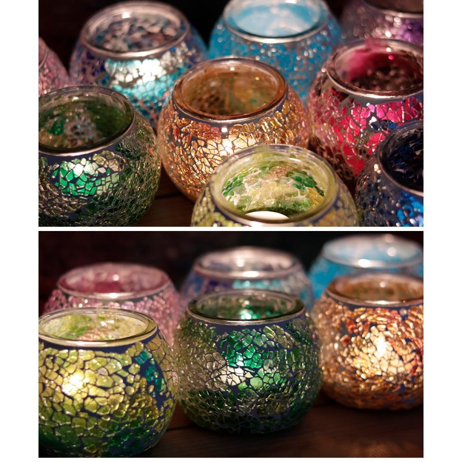 キャンドルホルダー ガラスホルダー キャンドルスタンド 北欧 トルコ 雑貨 癒し 硝子 ハロウィン モザイクガラス 6種類 ガラス容器|ishi0424|18