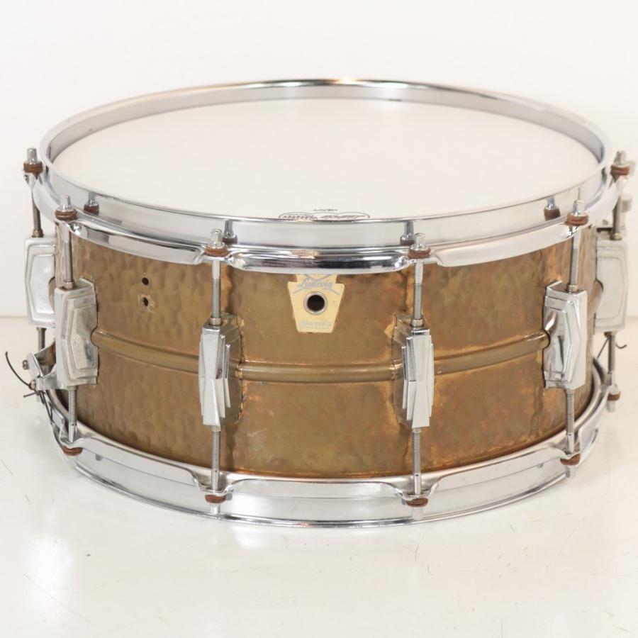 (中古)LUDWIG / 1980s LB552K 14x6.5 Hammered Bronze ハンマードブロンズ スネアドラム(御茶ノ水ドラム館)