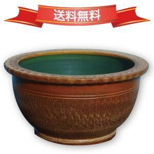 信楽焼 睡蓮鉢 窯肌トチリワン型水鉢 20号(直径62cm 高31.5cm) 【送料無料】【産地直送】