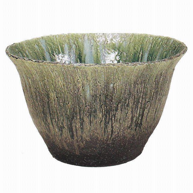 信楽焼 睡蓮鉢 緑ガラス水鉢 20号(直径61.5cm 高さ37cm) 【送料無料】【産地直送】