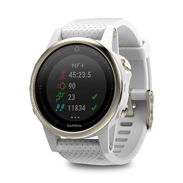 【GPSウォッチ】 ガーミン Garmin スマートウォッチ fenix 5s サファイヤシャンペンゴールド(010-01685-45)