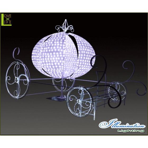 【大型商品】【イルミネーション】馬車【ピンク】【かぼちゃ】【パンプキン】【乗り物】【3D】【クリスマス】【イルミネーション】【電飾】【装飾】【飾り】【