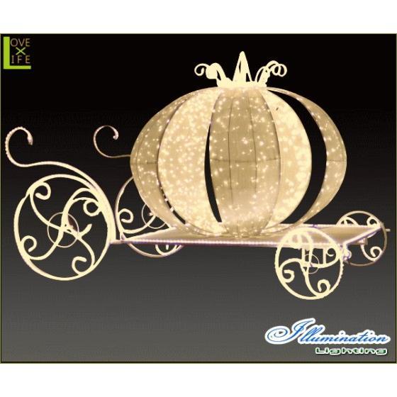 【大型商品】【イルミネーション】クラシック馬車【ゴールド】【かぼちゃ】【パンプキン】【3D】【クリスマス】【イルミネーション】【電飾】【装飾】【飾り】