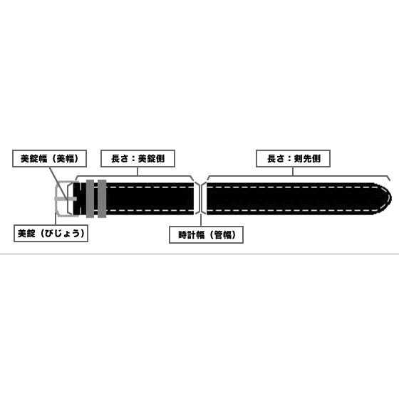 Rocotte オーストリッチ 駝鳥 10mm,11mm,12mm,13mm,14mm,16mm,17mm,18mm,19mm,20mm ブラック ベージュ ホワイト |ishikuni-shoten|07