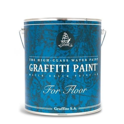 ビビッドヴアングラフィティーペイント フロア GFF-19Turquoise 青s 4L/ツヤあり/耐水/速乾/高硬度/防塵/耐摩耗/耐候/