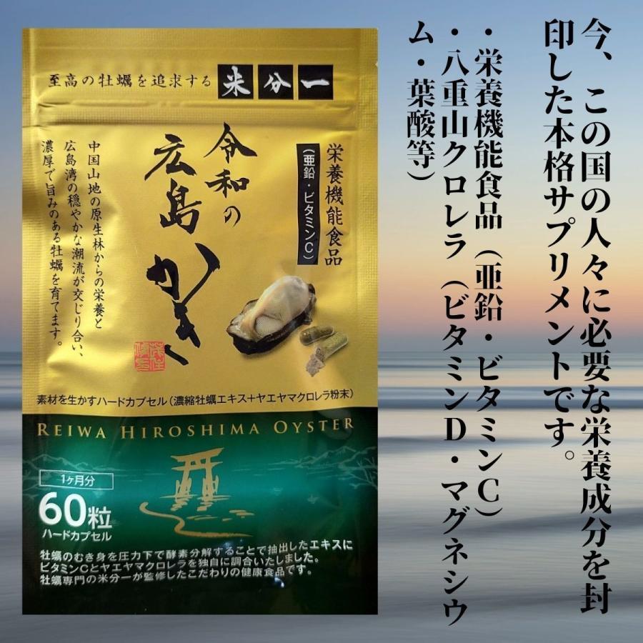 亜鉛 サプリ おすすめ 令和の広島かき 牡蠣 ビタミンC 八重山クロレラ 葉酸 ビタミンD サプリメント|ishmaelshop
