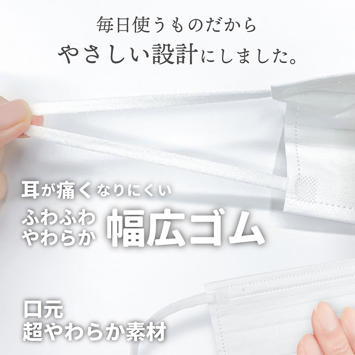 マスク 不織布 ふつうサイズ 50枚 立体型不織布マスク 3層構造 使い捨てマスク 白 ホワイト 大人用 ISDG 医食同源 ishokudogen-store 03
