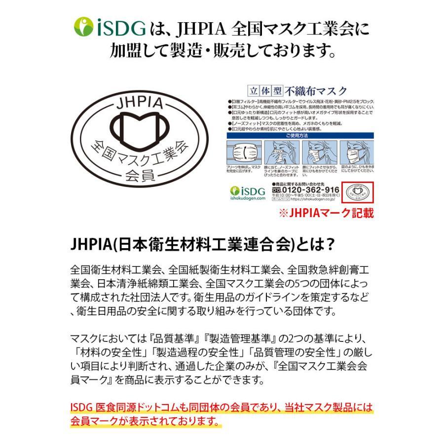 マスク 不織布 ふつうサイズ 50枚 立体型不織布マスク 3層構造 使い捨てマスク 白 ホワイト 大人用 ISDG 医食同源 ishokudogen-store 05