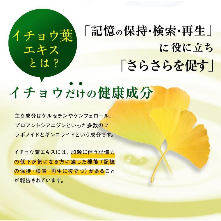 イチョウ葉 サプリ サプリメント 医食同源のイチョウ葉粒 90粒 30日分 機能性表示食品 カプセルタイプ|ishokudogen-store|03