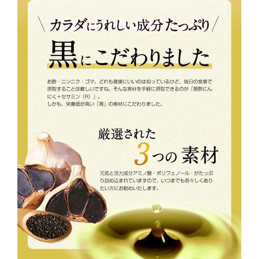 にんにく サプリ サプリメント 黒酢にんにく+セサミン(R) 90粒 30日分 発酵|ishokudogen-store|02