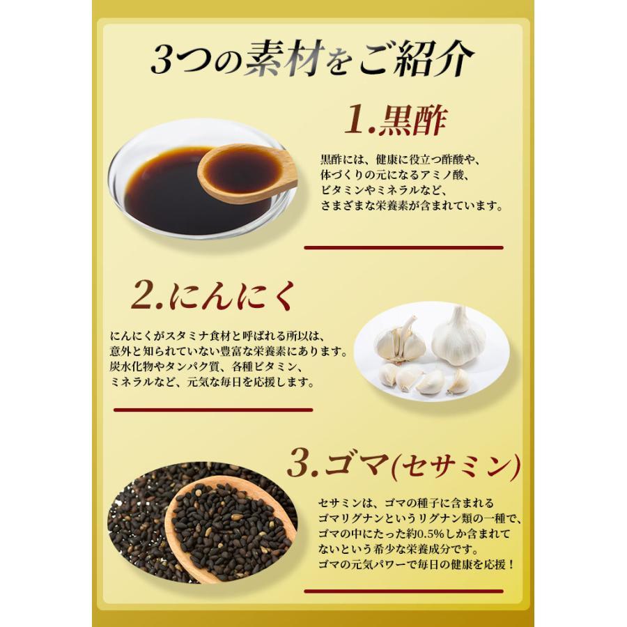にんにく サプリ サプリメント 黒酢にんにく+セサミン(R) 90粒 30日分 発酵|ishokudogen-store|03
