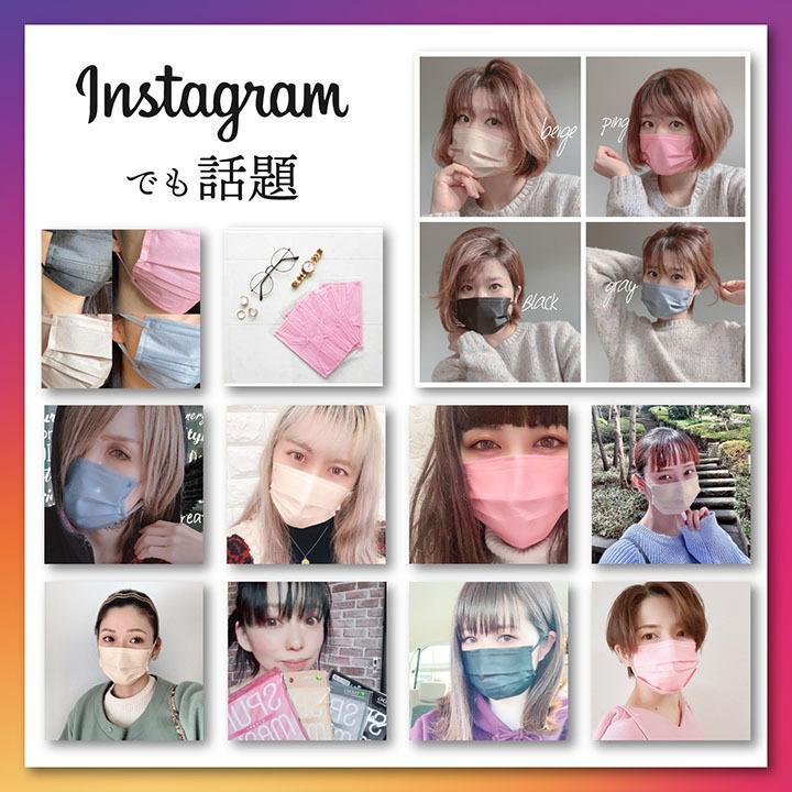 【40枚】スパンレース不織布マスク 大容量 スパンレース スパンマスク 不織布 艶マスク 使い捨て カラーマスク オシャレ マスク 三層 個包装 99% 大人用|ishokudogen-store|02