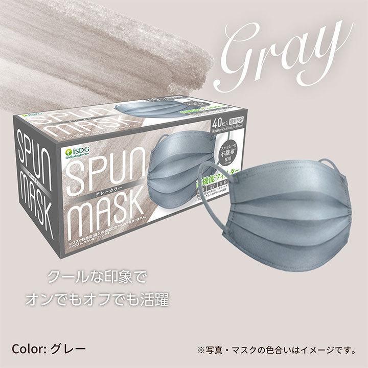 【40枚】スパンレース不織布マスク 大容量 スパンレース スパンマスク 不織布 艶マスク 使い捨て カラーマスク オシャレ マスク 三層 個包装 99% 大人用|ishokudogen-store|11