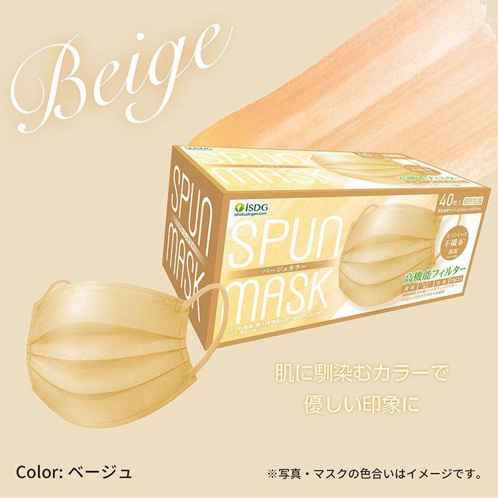 【40枚】スパンレース不織布マスク 大容量 スパンレース スパンマスク 不織布 艶マスク 使い捨て カラーマスク オシャレ マスク 三層 個包装 99% 大人用|ishokudogen-store|12