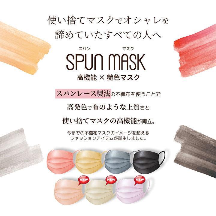 【40枚】スパンレース不織布マスク 大容量 スパンレース スパンマスク 不織布 艶マスク 使い捨て カラーマスク オシャレ マスク 三層 個包装 99% 大人用|ishokudogen-store|04