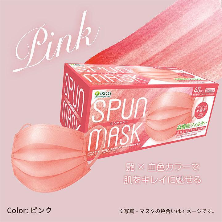 【40枚】スパンレース不織布マスク 大容量 スパンレース スパンマスク 不織布 艶マスク 使い捨て カラーマスク オシャレ マスク 三層 個包装 99% 大人用|ishokudogen-store|10