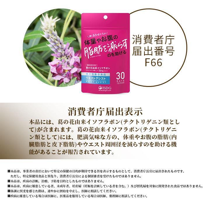 機能性表示食品 ウエストアシスト イソフラボン 葛の花 サプリ 肥満 脂肪 内臓脂肪と皮下脂肪 サプリメント ishokudogen-store 04