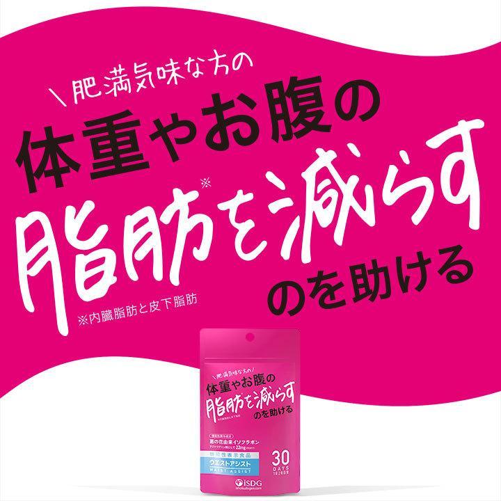 機能性表示食品 ウエストアシスト イソフラボン 葛の花 サプリ 肥満 脂肪 内臓脂肪と皮下脂肪 サプリメント ishokudogen-store 05
