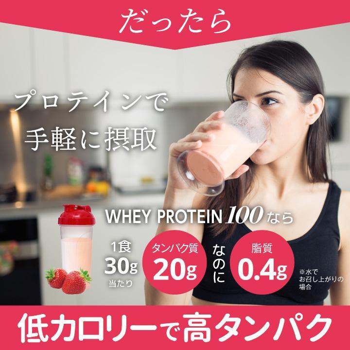 ホエイ プロテイン 苺 BMS WHEY PROTEIN 100 いちごスムージー風味 900g 30日分 あまおう タンパク質 女性 ISDG 医食同源ドットコム|ishokudogen-store|07