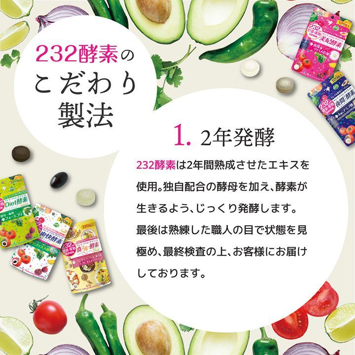【232酵素シリーズ】 酵素 サプリ サプリメント 夜間酵素 120粒 30日分 6袋 ダイエット|ishokudogen-store|08
