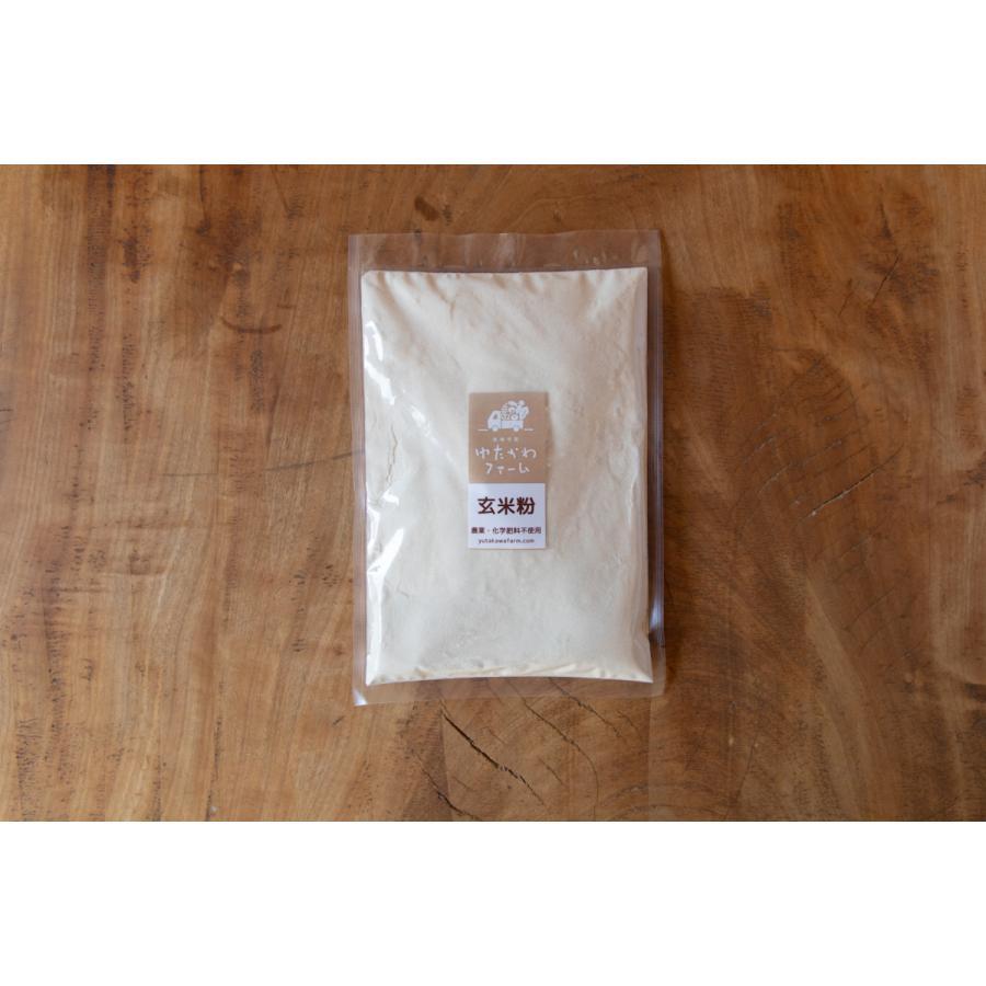 ゆたかわファームの玄米粉400g 無農薬・化学肥料不使用|iskwnouen