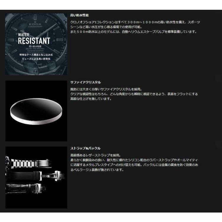 国内正規品 エドックス クロノオフショア1 腕時計 メンズ EDOX CHRONOFFSHORE-1 自動巻き 01122-3BU3-BUIN3-L|islandtribe|04