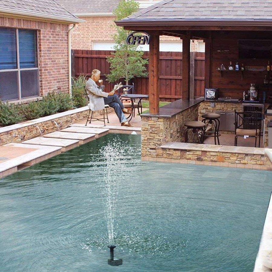 送料590円 ソーラー 噴水  ソーラー 池 ポンプ 庭の噴水用 省エネ 池でも使えるポンプ 太陽光 自動|isozaki-store|05