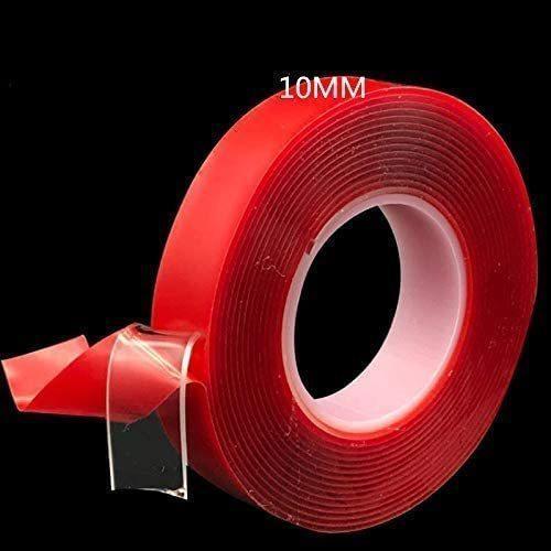 強力 両面テープ 透明 ドアバイザー 強力両面テープ メイルオーダー クリア 贈答 防水 水洗い可 DIY 10mm 1cm 家具の固定 3m はがせる粘着テープ 繰り返し使える