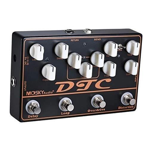 MOSKY DTC ハイクオリティ 商い ディストーション+オーバドライブ+ループ+ディレイ 4-in-1エレクトリックギターエフェクトペダル