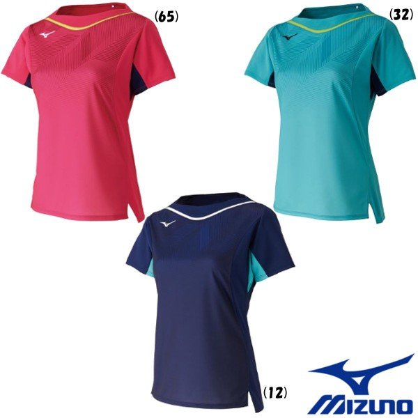 《送料無料》2019年9月発売 MIZUNO ウィメンズ ゲームシャツ(スリムフィット) 82JA9701 ミズノ 卓球 ウェア