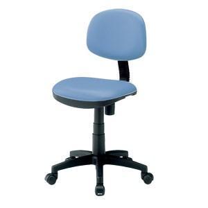 事務椅子 低ホルムアルデヒド 背もたれチルト機能 ロッキング機能 ロッキング機能 ビニールレザー ブルー