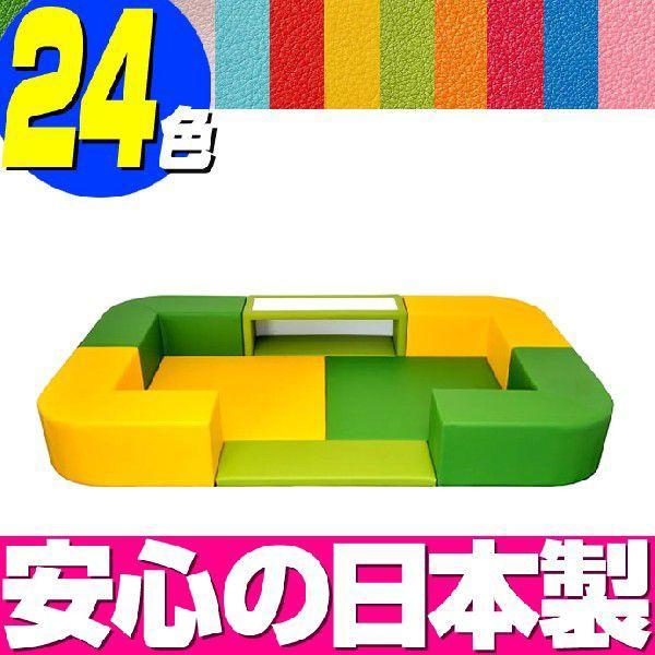 キッズコーナー バンビファンシーセット Rコーナー 1畳 BC12(デスク·デスクマット·入口マット付)/ベビー 幼児 フロアマット キッズスペース