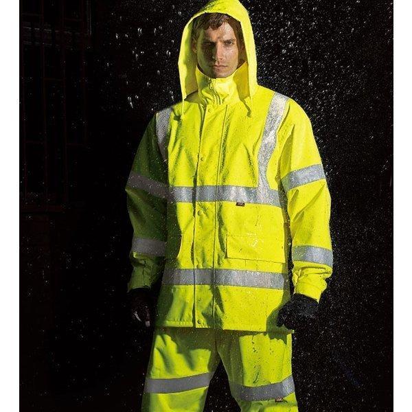 TUNP40高視認性安全レインスーツ(フード付)タカヤ商事(NIGHT KNIGHTナイトナイト)3L/4L/5L対応(大きいサイズ対応)作業服 作業着 カッパ 合羽 かっぱ