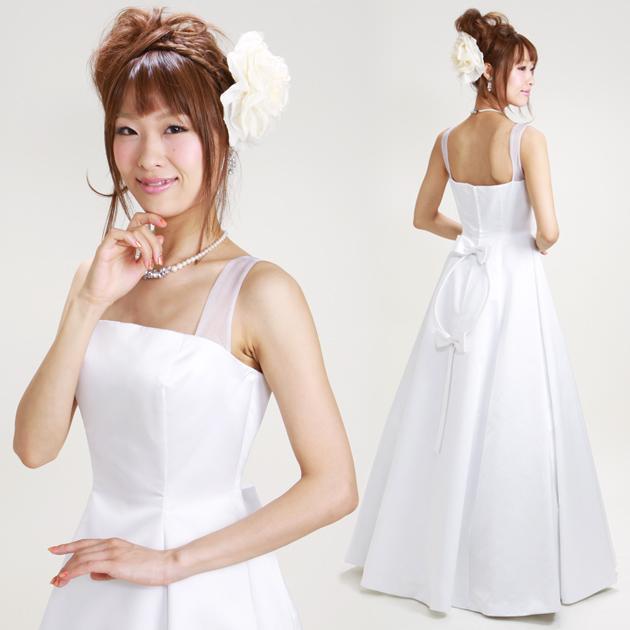 ウェディングドレス レンタル 9号 Aライン ウエディングドレス ドレス 貸衣装 海外挙式 海外ウェディング リモ婚 安い 格安 6121 送料無料