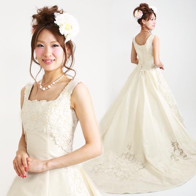 ウェディングドレス レンタル 7号 Aライン ウエディングドレス ドレス 貸衣装 海外挙式 海外ウェディング リモ婚 安い 格安 6226 送料無料