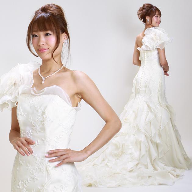 ウェディングドレス レンタル 7号-9号 マーメイドライン ウエディングドレス ドレス 貸衣装 海外挙式 海外ウェディング リモ婚 安い 格安 6403 送料無料