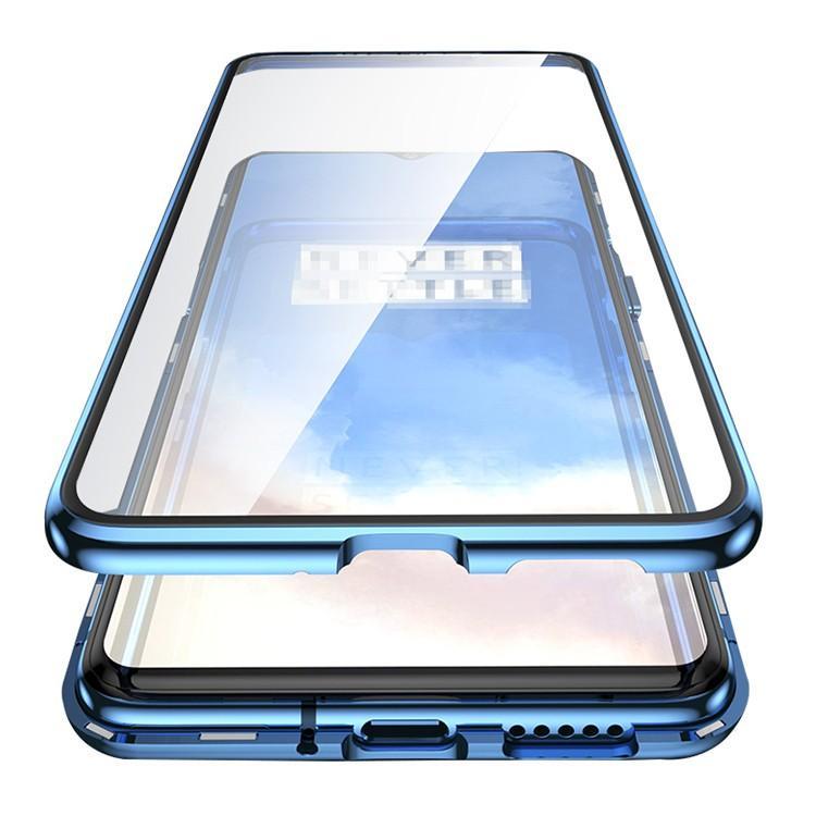 One plus7T proケース カバー アルミ バンパー クリア 日本正規品 透明 アルミサイドバンパー 前後 Plus 両面 マグネット 売買 かっこいい ワンプラス ガラス