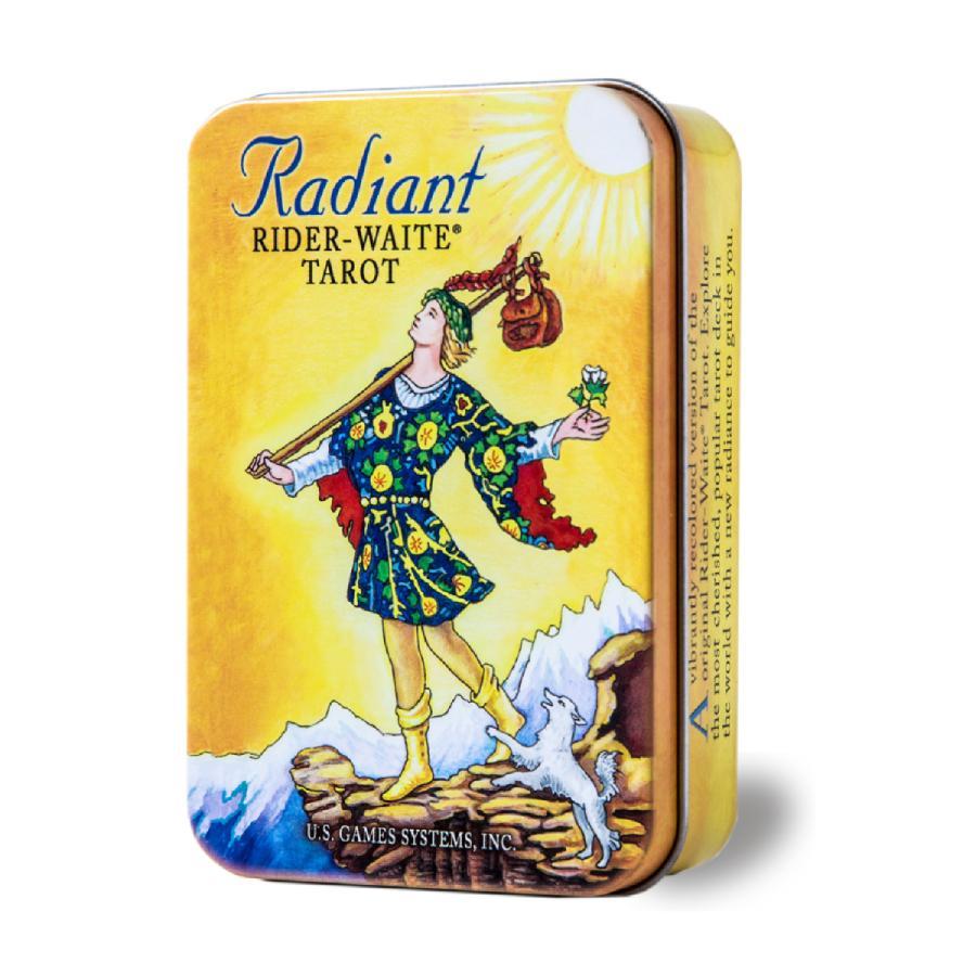 タロットカード ラディアント 高品質新品 ライダーウェイト タロット 日本語解説小冊子 缶入り 春の新作シューズ満載