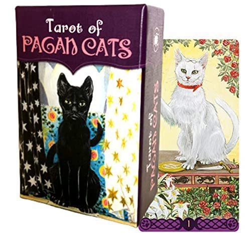 タロットカード 78枚 ウェイト版 ミニチュア タロット占い タロット オブ ペイガン キャッツ MINI 正規品 日本語解説書付き Of 期間限定で特別価格 ミニ Cats 数量限定 Pagan Tarot