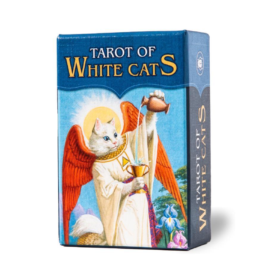 タロットカード NEW 78枚 ウェイト版 ミニチュア タロット占い ホワイトキャッツ 業界No.1 タロット 日本語解説書付き Of Tarot White ミニ Cats MINI
