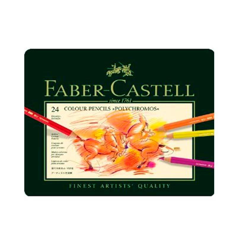 ファーバーカステル ポリクロモス色鉛筆セット 24色缶入