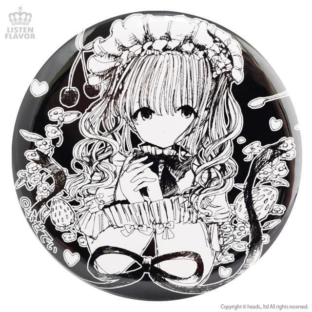 ロリィタティータイムコラボ缶バッジ (57mm) / LISTEN FLAVOR×ふせでぃ  itempost 02