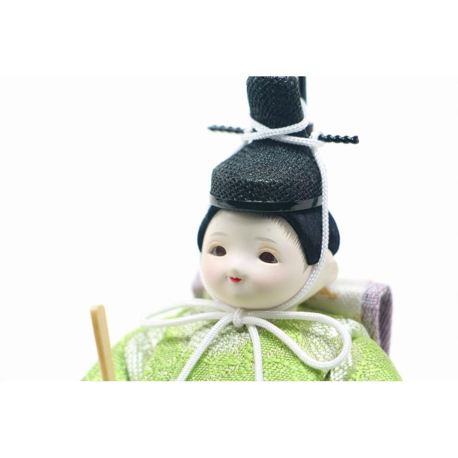 かわいい 小さな お雛様 rico咲(さき) 木目込み親王飾り minimal流水屏風
