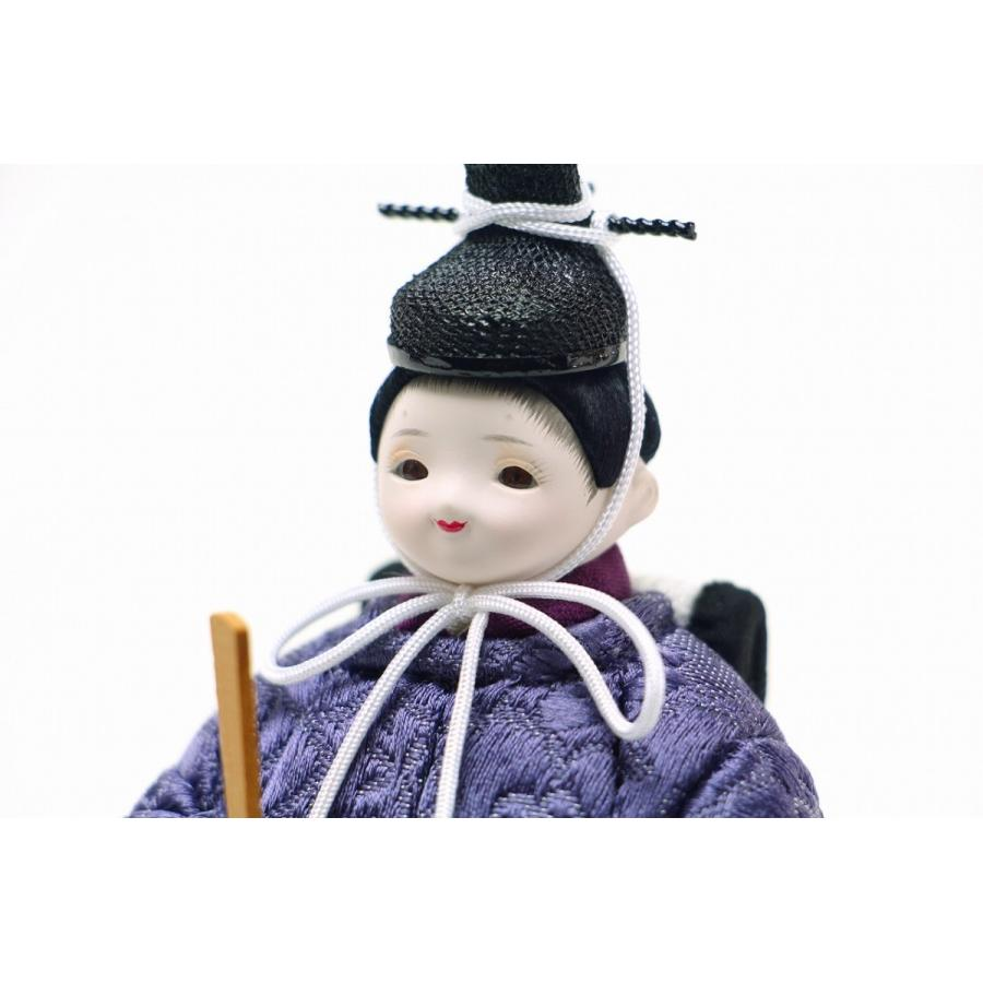 かわいい 小さな お雛様 rico紗(さや) 木目込み五人飾り 金銀蒔絵屏風 官女付き