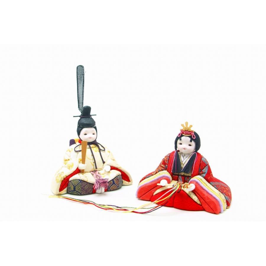 かわいい 小さな お雛様 rico凛(りん) 木目込五人王飾り 桜色収納