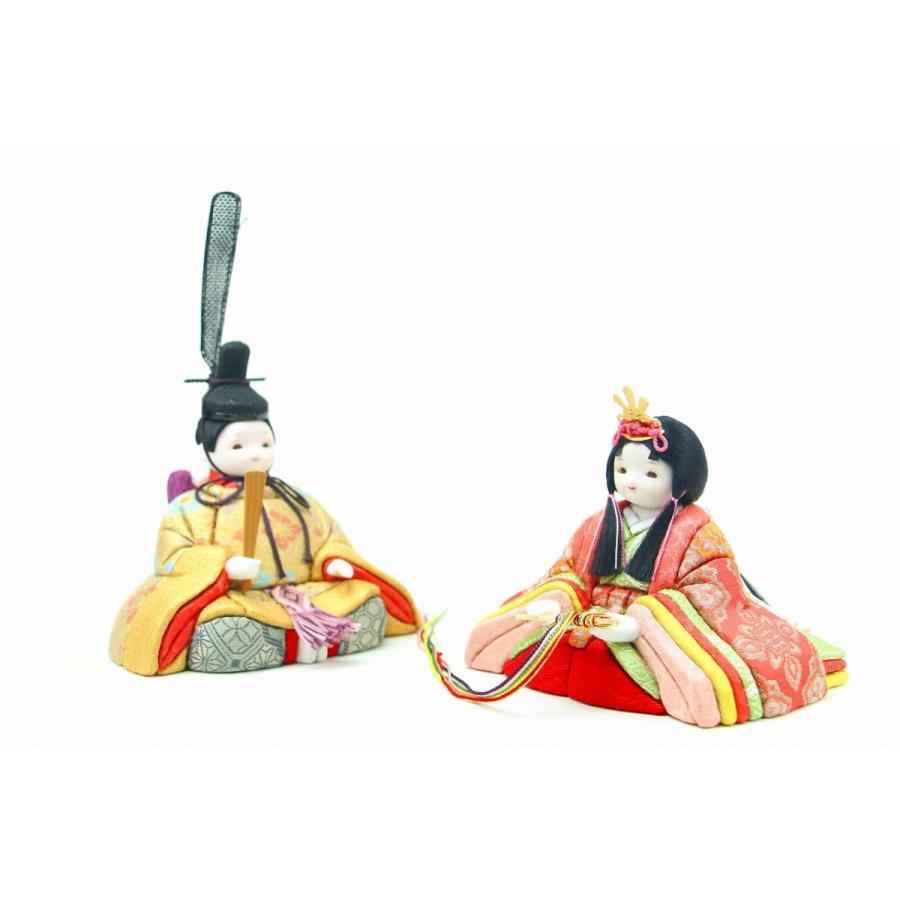 かわいい 小さな お雛様 rico夢(ゆめ) 木目込み親王飾り 桜色収納