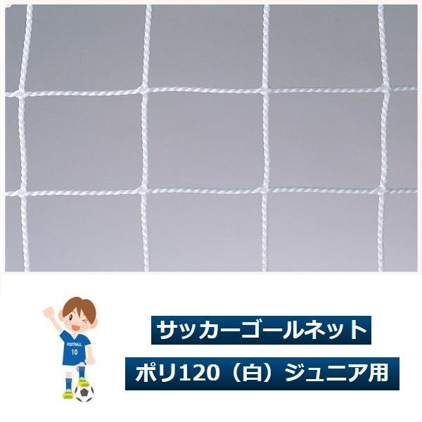 サッカーゴールネット ポリ120(白)ジュニア用(1対)·ルイ高·RT-N160614【送料無料】