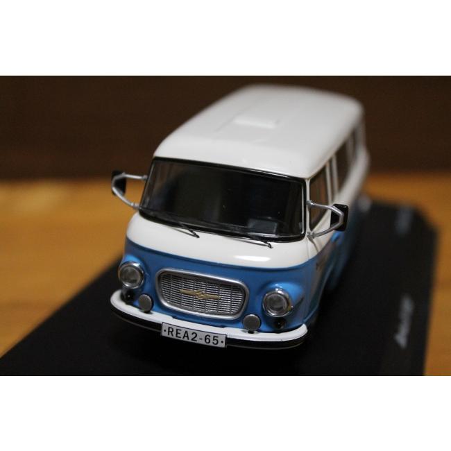 シュコー 1/43 バルカス B 1000 バス ブルー/ホワイト 03650