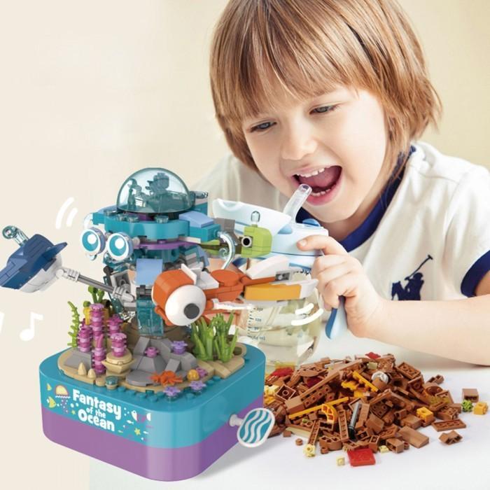 組み立て ブロック オルゴール ギミック 回転 動く 音楽ボックス おもちゃ 組立 癒し おしゃれ 立体 パズル 彼女 子供 子ども こども 小学生 誕生日 クリスマス|itempost|06